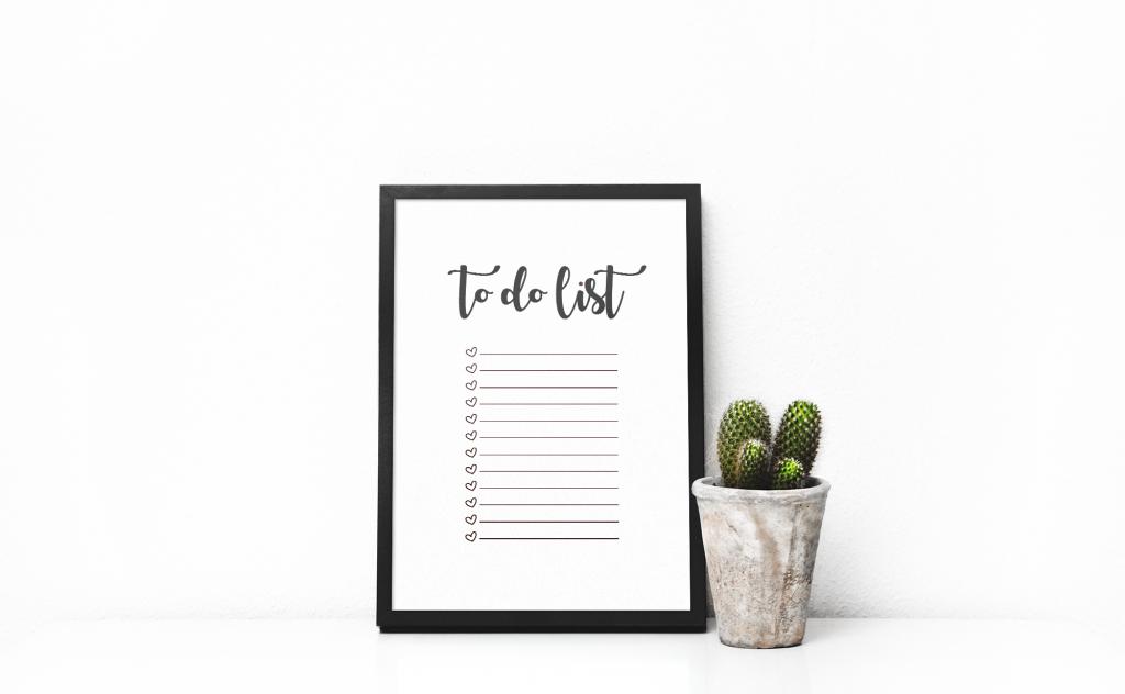 Print-selv to do liste