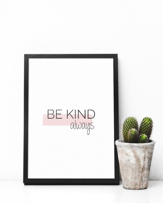 Print-selv-plakat – Be kind
