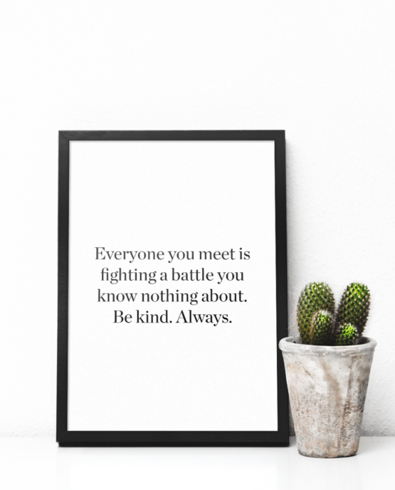 Print-selv-plakat – citat