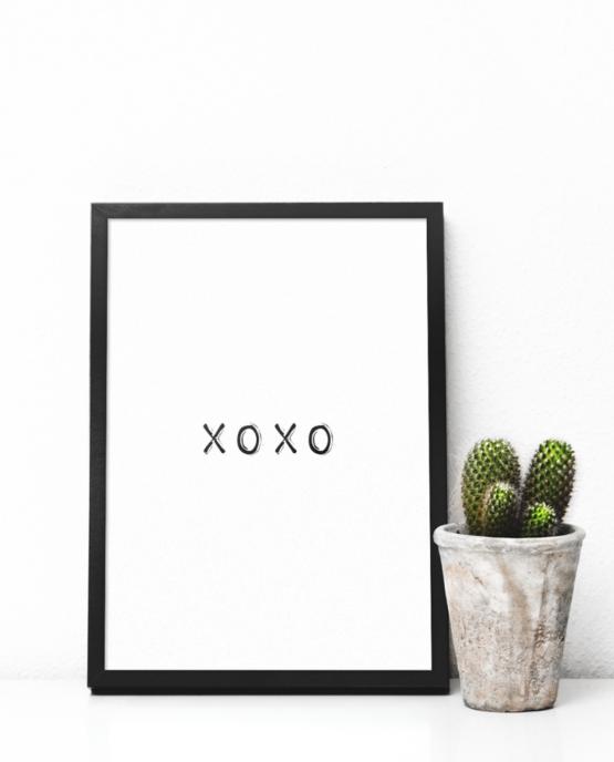 Print-selv-plakat – xoxo