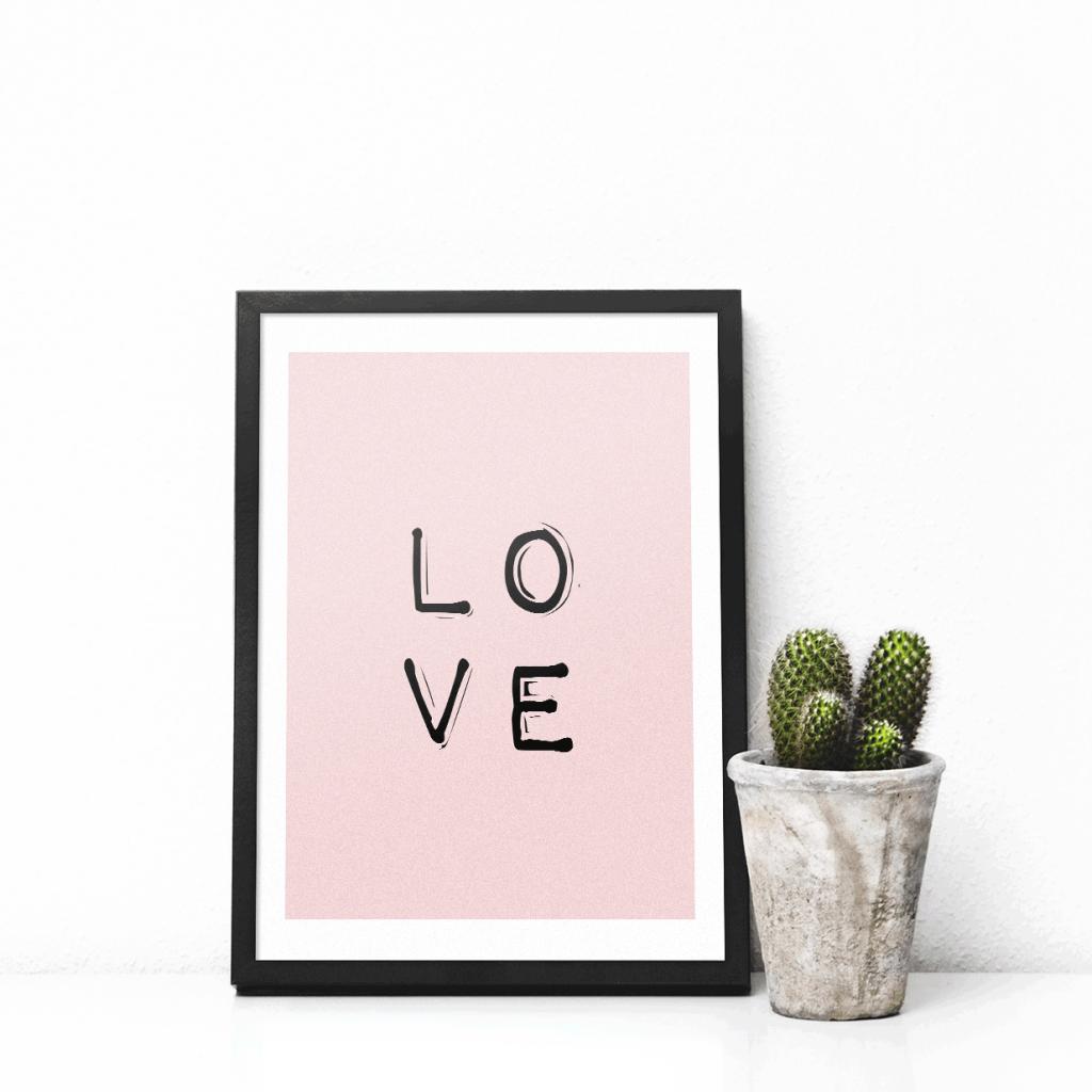 Print-selv-plakat – Love