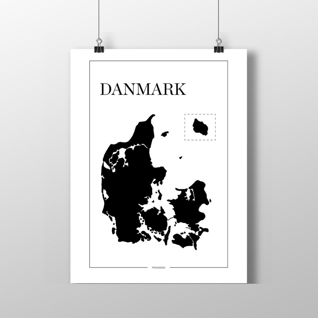 Print-selv-plakat – Danmark