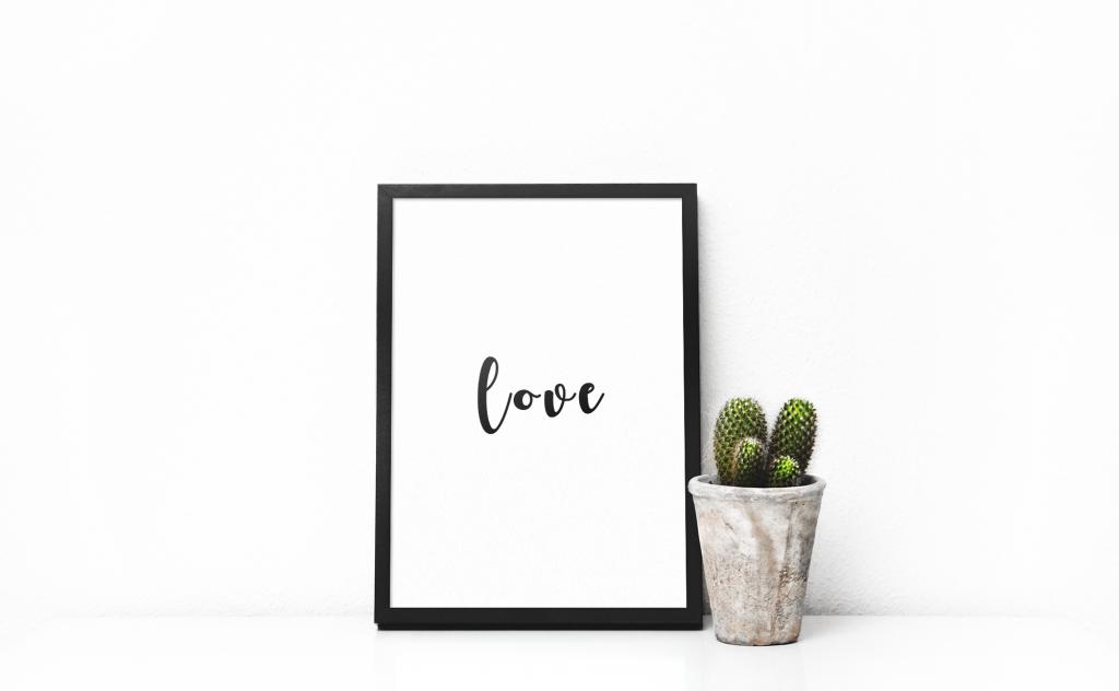 Print-selv-plakat Love