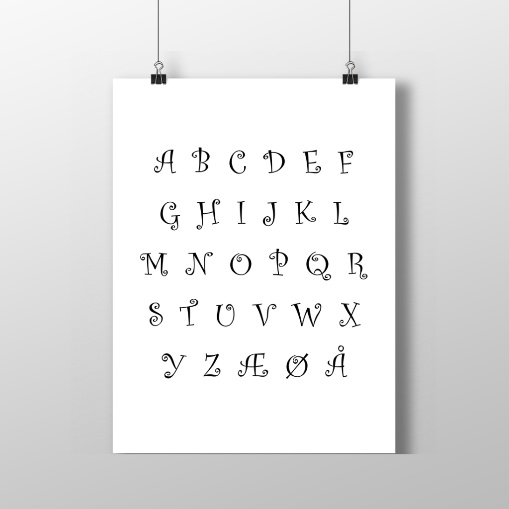 Print-selv alfabet
