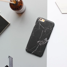 iPhone cover – sort marmor